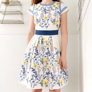 Foxiedox • Floral Embroidered Fit and Flare Dress